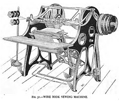 Photo of an early model sewing machine, part of the history of the sewing machine