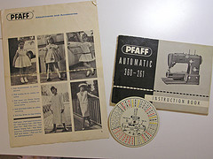 Pfaff sewing machines manuals