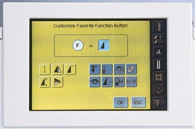 Picture of Bernina favorite function feature