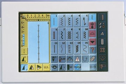 Picture of the Bernina 730 color touch screen.