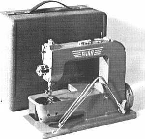 Photo of Elna #1, the first of the Elna Sewing Machines