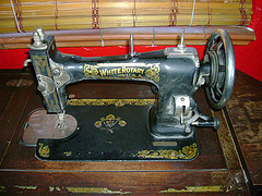 Antique White sewing machines