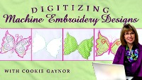 Digitizing machine embroidery designs video course